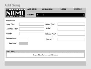 Add a Song Screenshot