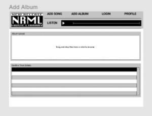 NRML Add Album Screenshot